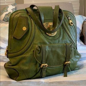 Alexander McQueen Green leather satchel